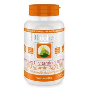 Bioheal Acerolás C-vitamin 1100 mg + D3-vitamin 2200 NE (105 db)