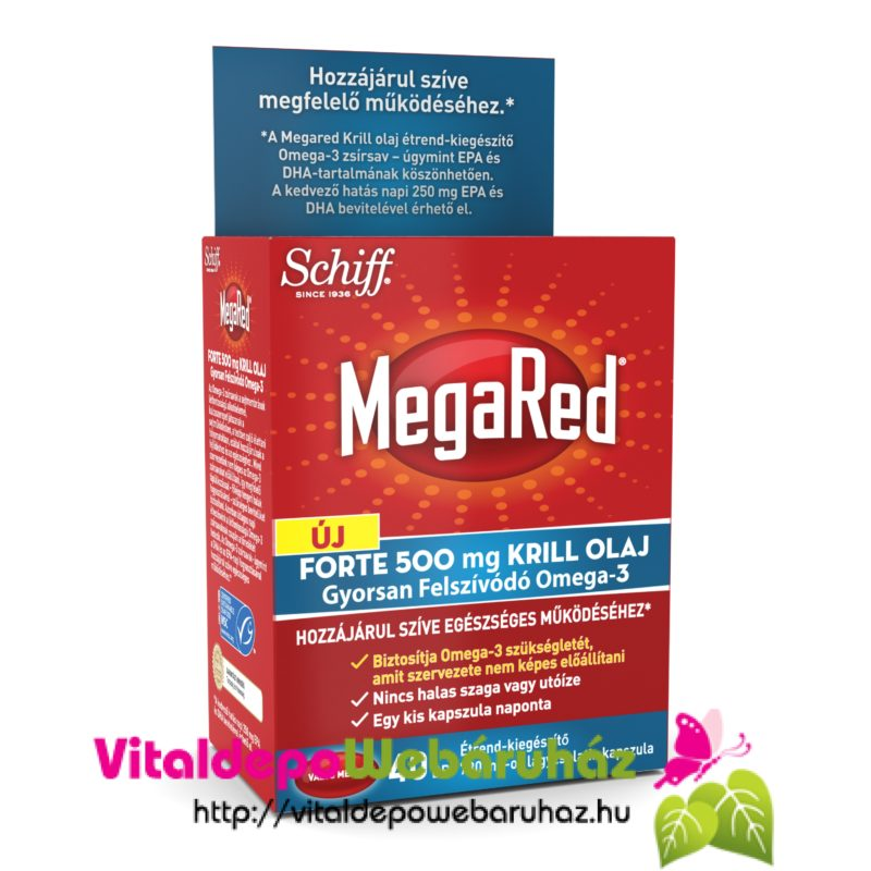 MegaRed Forte 500 mg KRILL olaj 40 db